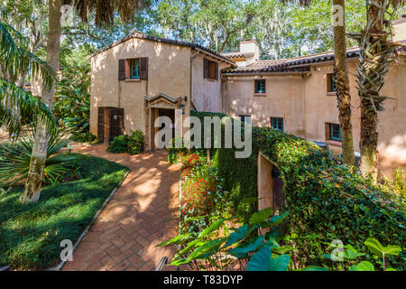 Pinewood Estate in Bok Tower Gardens also known as Bok Mountain Lake Sanctuary in Lakes Wales Polk County Florida in the United States - Stock Image