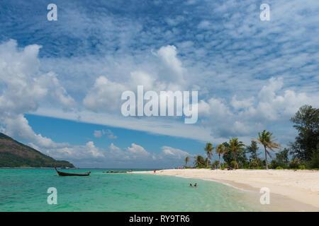 Koh Lipe beautiful beach panorama, Thailand - Stock Image