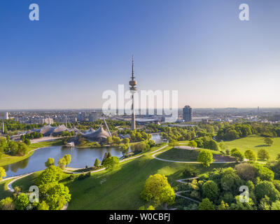 Olympic Park in Munich, Bavaria, Germany - Stock Image