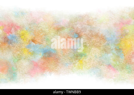 Colorful summer watercolor abstract or natural vintage paint background - Stock Image
