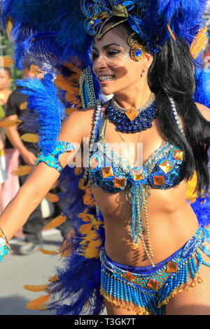 The Montreal Brazilian Summer Carnival at  Parc Jean-Drapeau - Stock Image