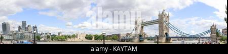 London panorama, London panoramic, London vista, Tower bridge London, Tower of London, London square mile, London - Stock Image