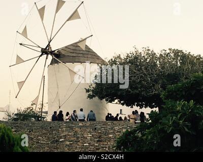 Windmill, Greek islands - Stock Image