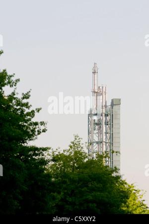 The Galp Tower at Parque das Nações in Lisbon. - Stock Image