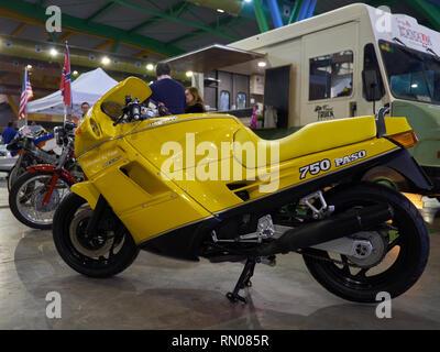 Ducati Paso 750. Retro Málaga 2019. Spain. - Stock Image