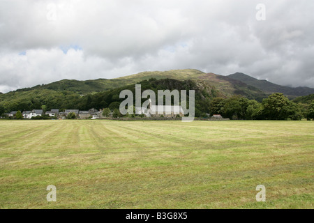 The Church at Beddgelert, Snowdonia National Park, Gwynedd, North Wales - Stock Image