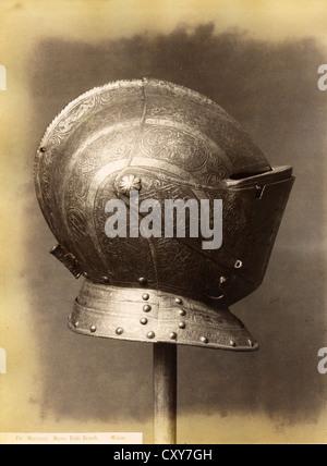 Helmet, Museo Poldi-Pezzoli, Milan, ca 1880, by Marcozzi - Stock Image