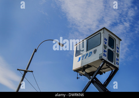 elevated elevated police watch tower - Stock Image