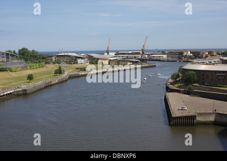 View of St. Peters Riverside, River Wear. - Stock Image