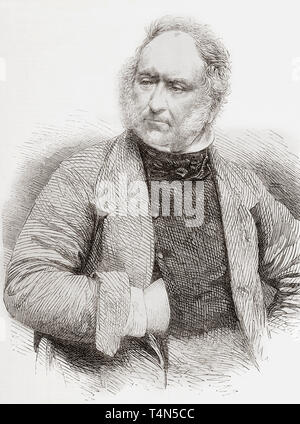 John Frederick Herring Sr., 1795 –1865, aka John Frederick Herring I.  English painter, sign maker and coachman.  From The Illustrated London News, published 1865. - Stock Image
