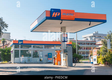 CARRARA. ITALY - OCTOBER 21, 2018 - IP  gas station in Tuscany, Italy - Stock Image