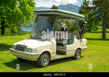 Stylish Italian golf buggy - looks like sports car, very cool, fully pimped! - Stock Image