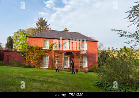Glebe House and Gallery. View from rear back gardens. County Donegal, Ireland - Stock Image