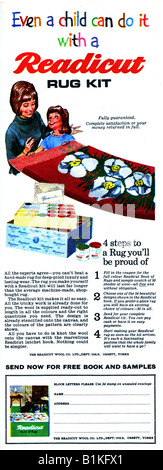 1965 Magazine Advertisement for Readicut Rug Kit FOR EDITORIAL USE ONLY - Stock Image