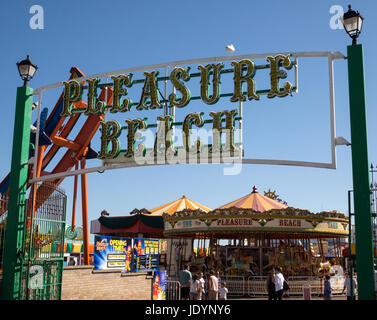 The Entrance to The Pleasure Beach in Great Yarmouth with its Children's Entertainment, Great Yarmouth, Norfolk, - Stock Image