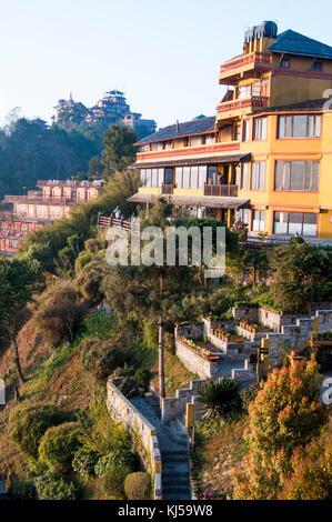 Hotel Country Villa at Nagarkot hill station, east of Kathmandu, Nepal - Stock Image