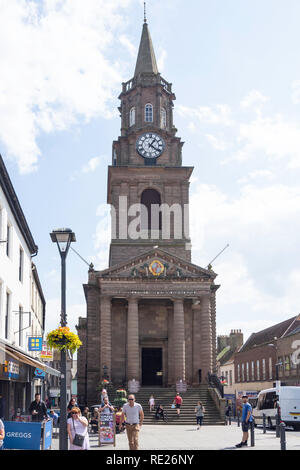 The Town Hall (Guildhall), Marygate, Berwick-upon-Tweed, Northumberland, England, United Kingdom - Stock Image
