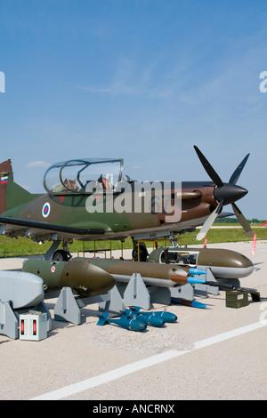 Slovenian Air Force Pilatus PC-9M - Stock Image