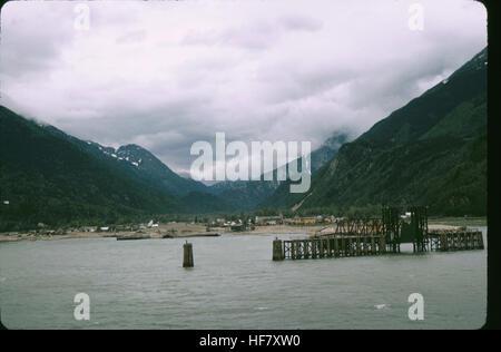 View upon Skagway; at the head of Lynn Canal, Alaska. - Stock Image