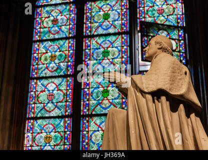 Detail from Cathedrale Notre Dame de Paris, France - Stock Image