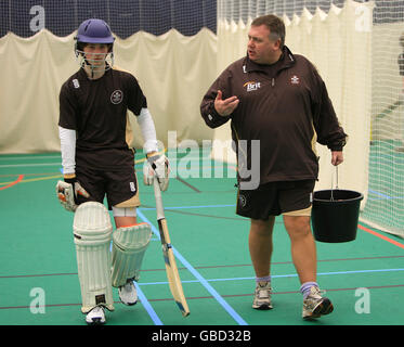 Cricket - Media Open Evening - Pemberton Greenish Surrey Academy - Stock Image