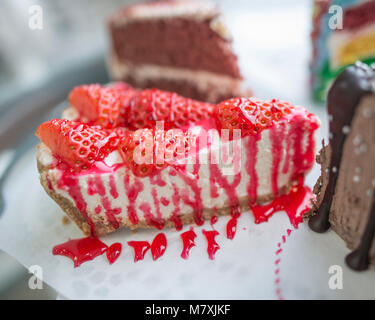 Cake, Crepes, Cheesecake and Desserts - Stock Image