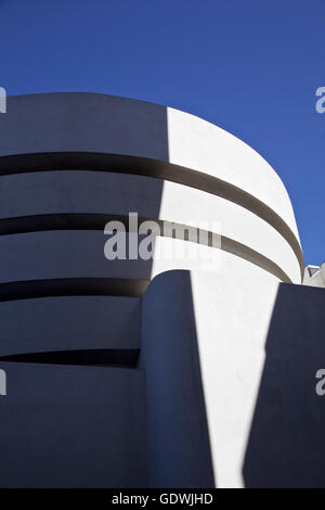 The famous Solomon R. Guggenheim Museum of modern and contemporary art. On February 2, 2016 in New York City - Stock Image