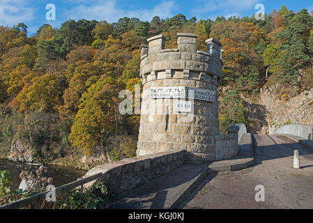 The 1812 lattice cast iron bridge designed by Thomas Telford across the River Spey at Craigellachie Morayshire. - Stock Image