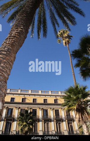 Placa Reial in Barcelona - Stock Image