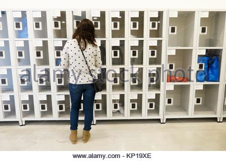 lockers, valencia, Spain - Stock Image
