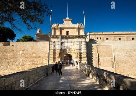 Main Gate, Mdina, Malta, - Stock Image