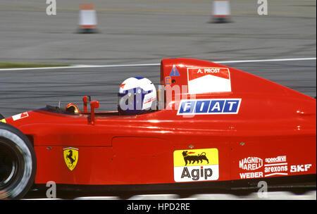 1990 Alain Prost French Ferrari 641 Silverstone British GP 1st - Stock Image