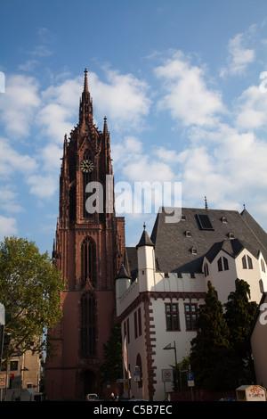 Frankfurt Dom cathedral church - Stock Image