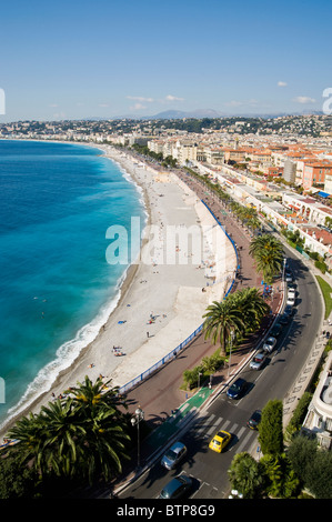 Promenade d'Anglais, Nice, Cote d'Azur, France - Stock Image