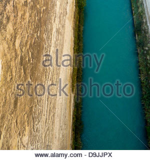 greece corinth canal - Stock Image