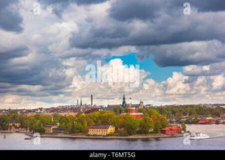 Scenic view of Stockholm, Sweden - Stock Image