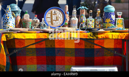 Scenes from the farmers market in Las Cruces, New Mexico - Stock Image