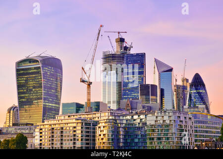 City of London Financial District, United Kingdom - Stock Image