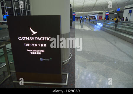 The Pier - First Class Lounge Cathay Pacific, Hong Kong CN - Stock Image