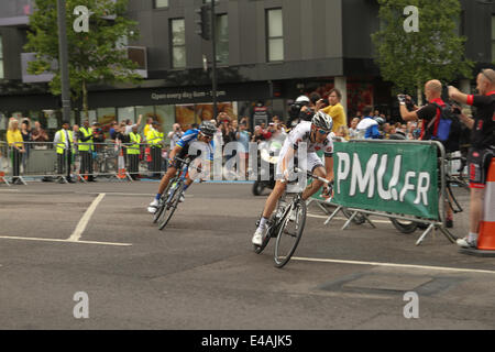 London, UK. 07th July, 2014. London, UK. 07th July, 2014. Germany's sprinter Marcel Kittel  seen in second place - Stock Image