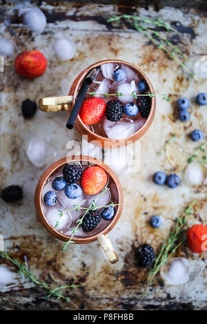 Summer berries moscow mule - Stock Image