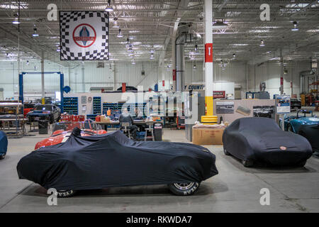 Carroll Shelby Factory and Museum tour. - Stock Image