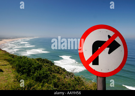 south africa garden route viewpoint wilderness beach - Stock Image