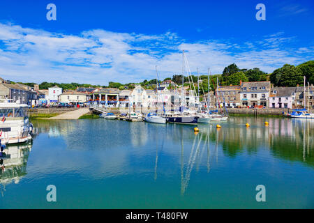 26 June 2018: Padstow, Cornwall, UK - The harbour and waterfront. - Stock Image