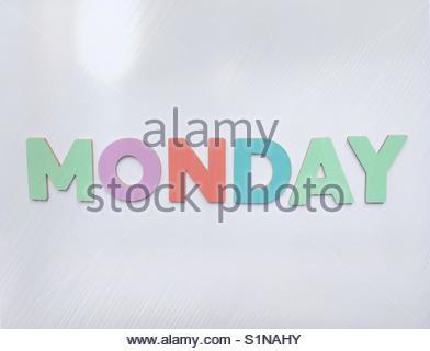 monDay' (word) - Stock Image
