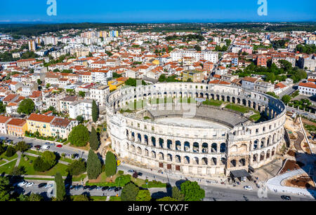 The Pula Arena in Croatia - Stock Image