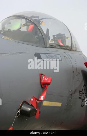 Cockpit of USAF Boeing F 15 Strike Eagle - Stock Image