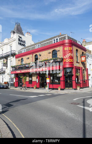 The newly reopened Waterman's Arms public house, Lonsdale Road, Barnes, London, SW13, UK - Stock Image