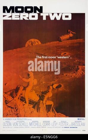 MOON ZERO TWO, US poster art, 1969 - Stock Image