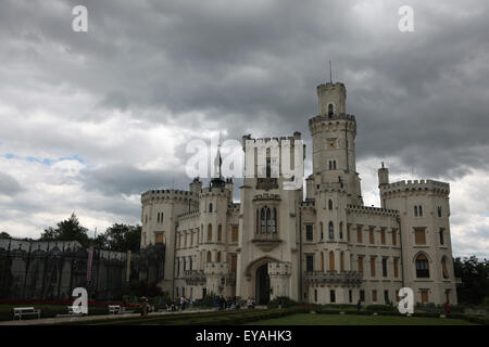 Hluboka Castle in Hluboka nad Vltavou, South Bohemia, Czech Republic. - Stock Image